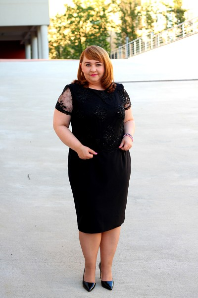 Czarna sukienka dla puszystych rozm. 44-52